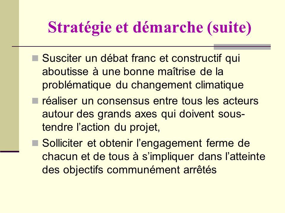 Stratégie et démarche (suite)
