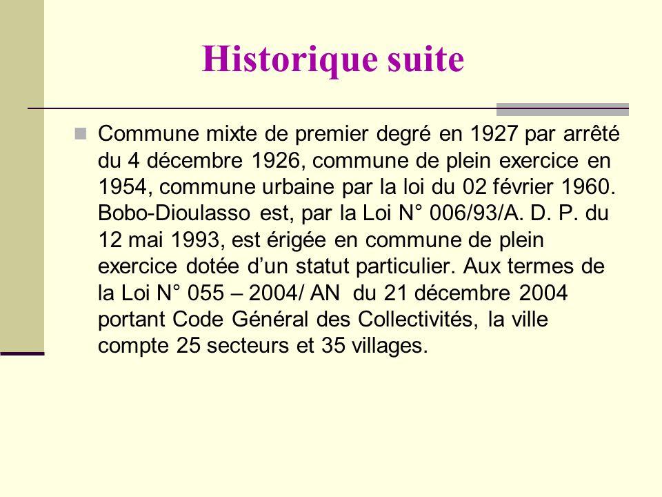 Historique suite