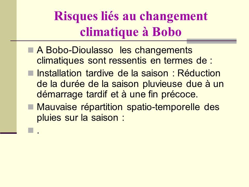 Risques liés au changement climatique à Bobo