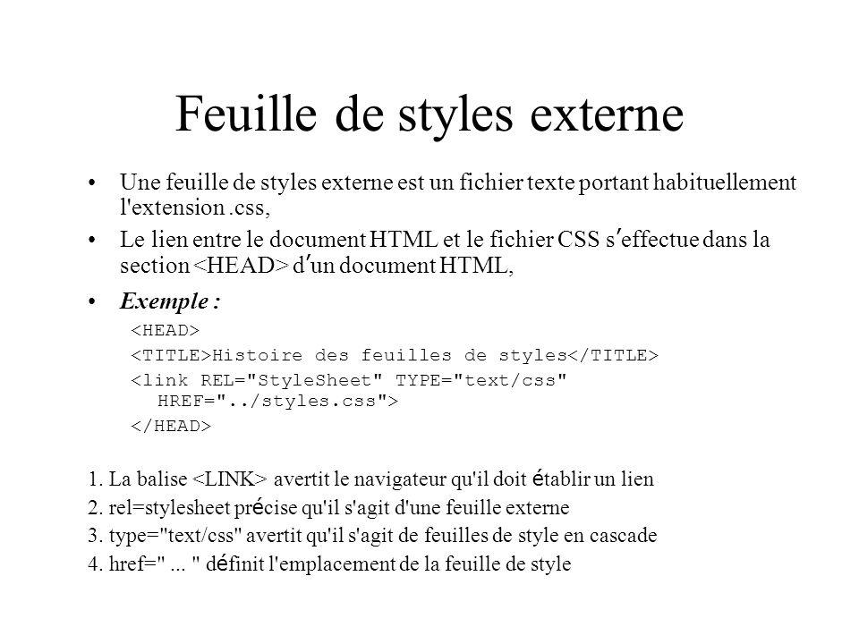 Feuille de styles externe