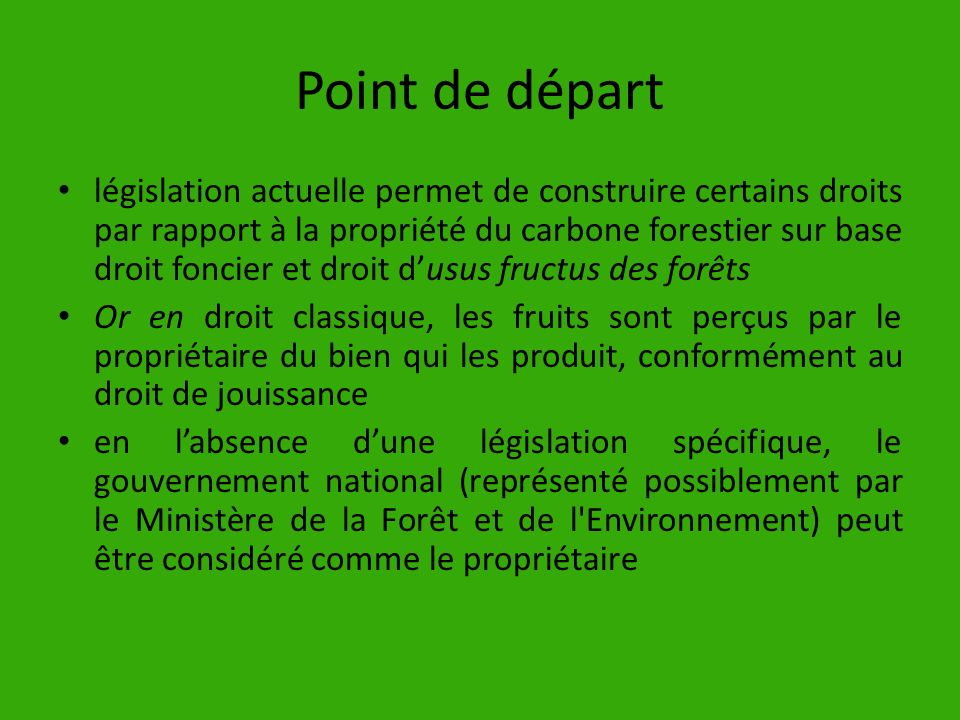 Point de départ