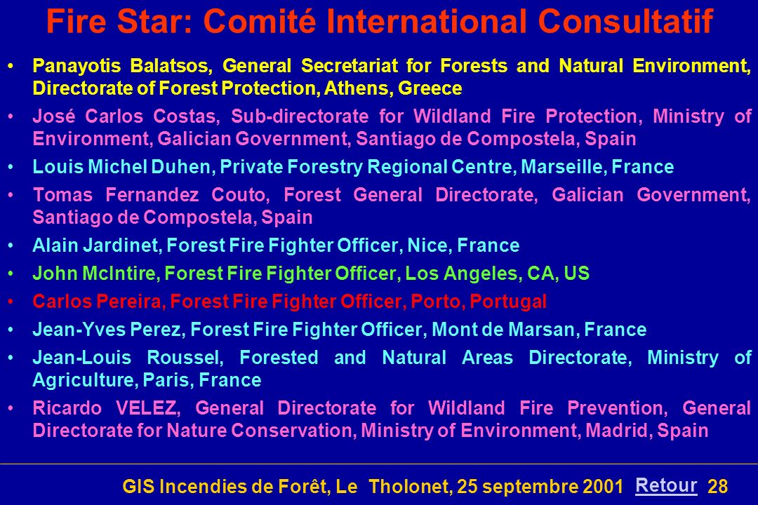 Fire Star: Comité International Consultatif