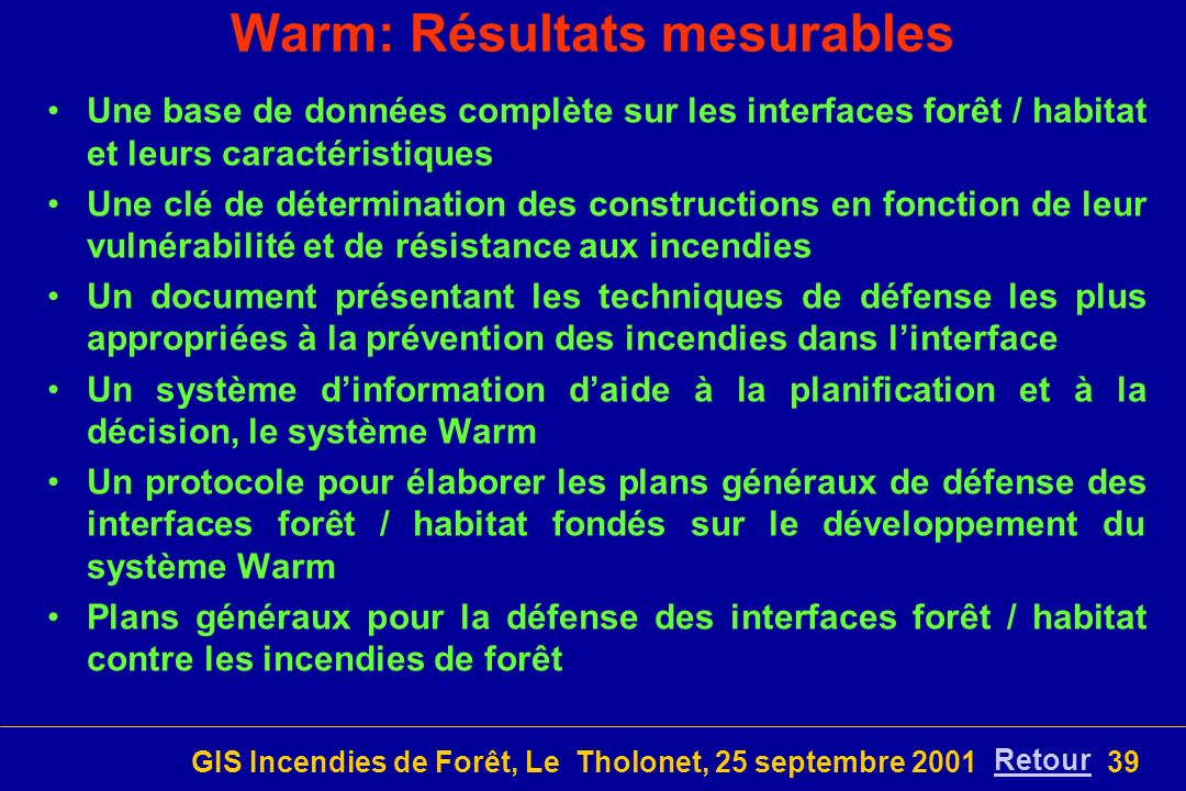 Warm: Résultats mesurables