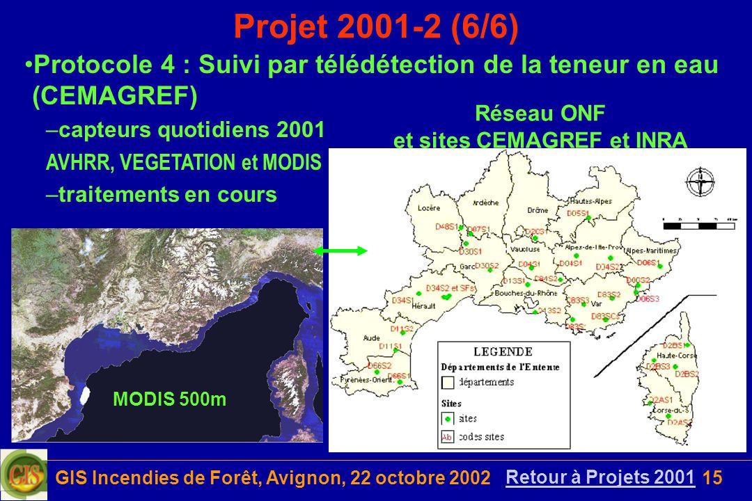 Réseau ONF et sites CEMAGREF et INRA