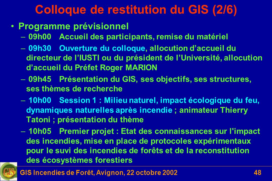 Colloque de restitution du GIS (2/6)