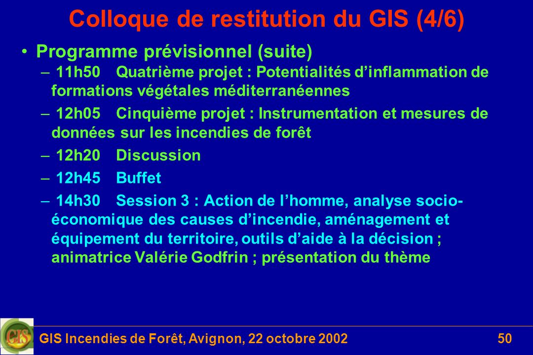 Colloque de restitution du GIS (4/6)