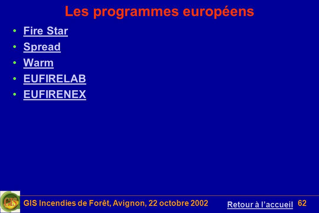 Les programmes européens