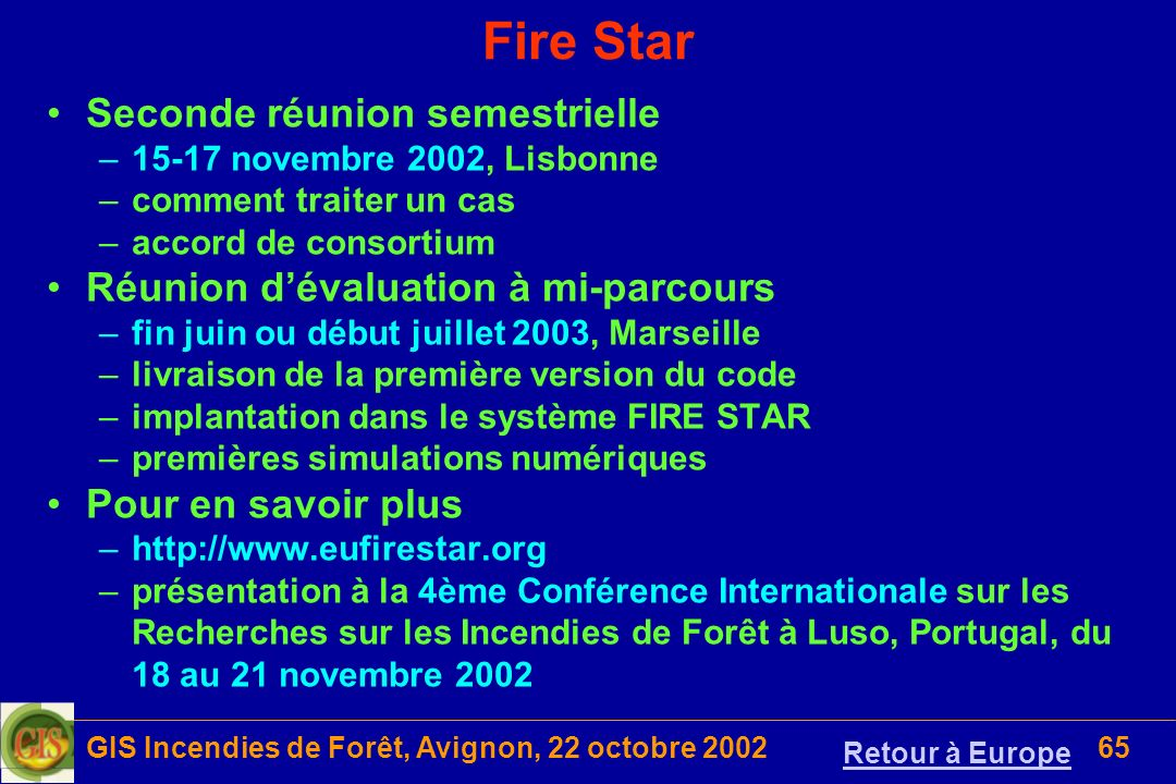 GIS Incendies de Forêt, Avignon, 22 octobre 2002