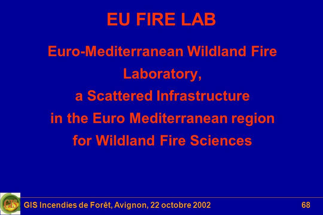 EU FIRE LAB Euro-Mediterranean Wildland Fire Laboratory,