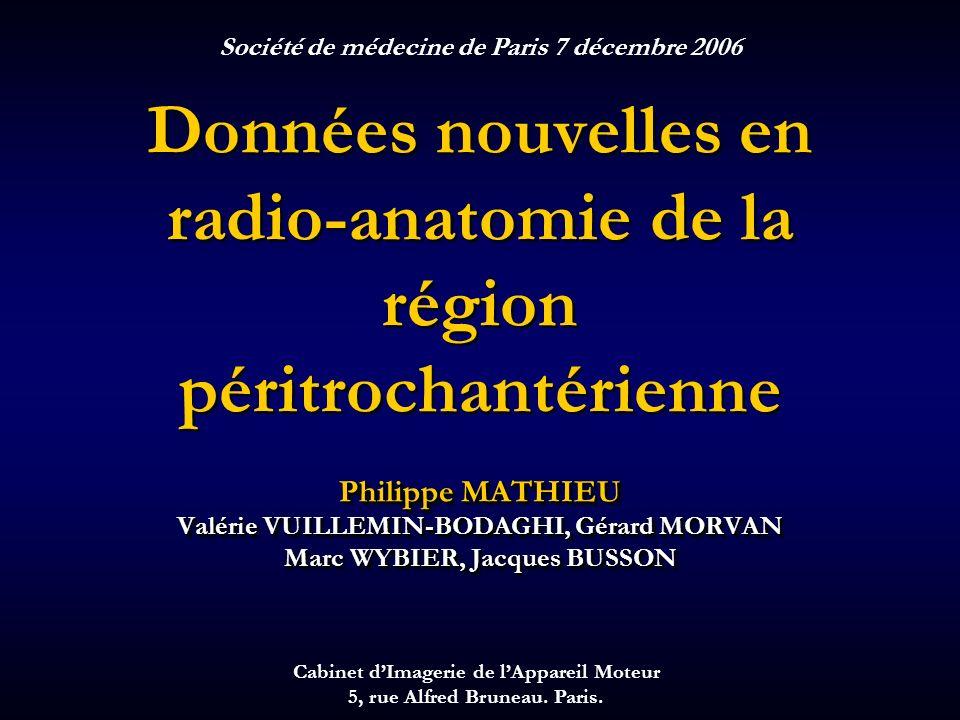 Données nouvelles en radio-anatomie de la région péritrochantérienne