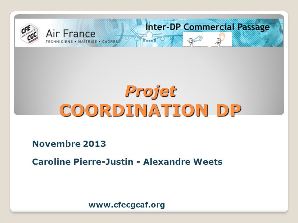 Projet COORDINATION DP