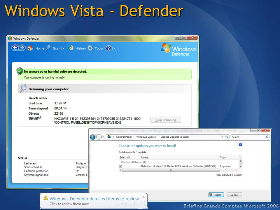 Windows Vista - Defender