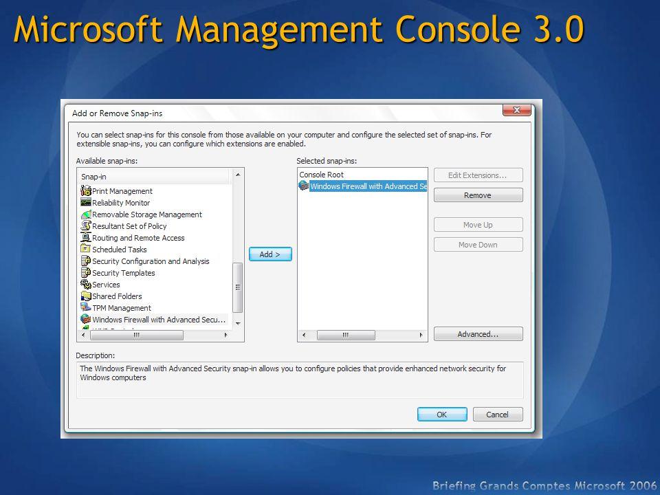 Microsoft Management Console 3.0