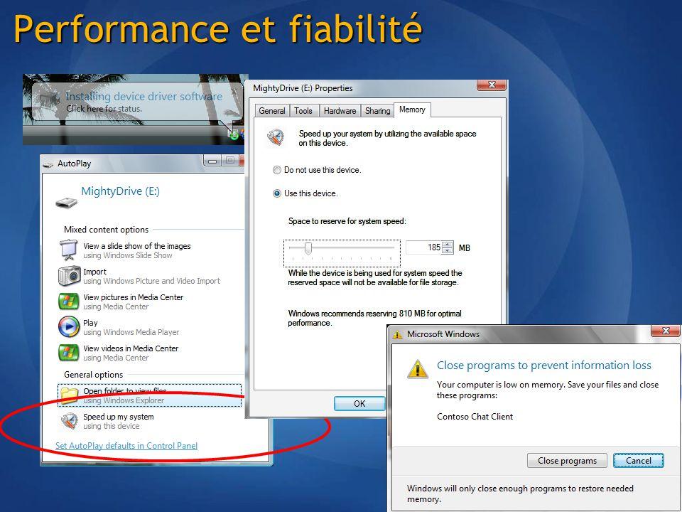 Performance et fiabilité
