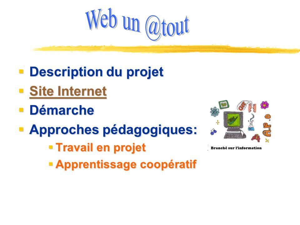 Web un @tout Description du projet Site Internet Démarche