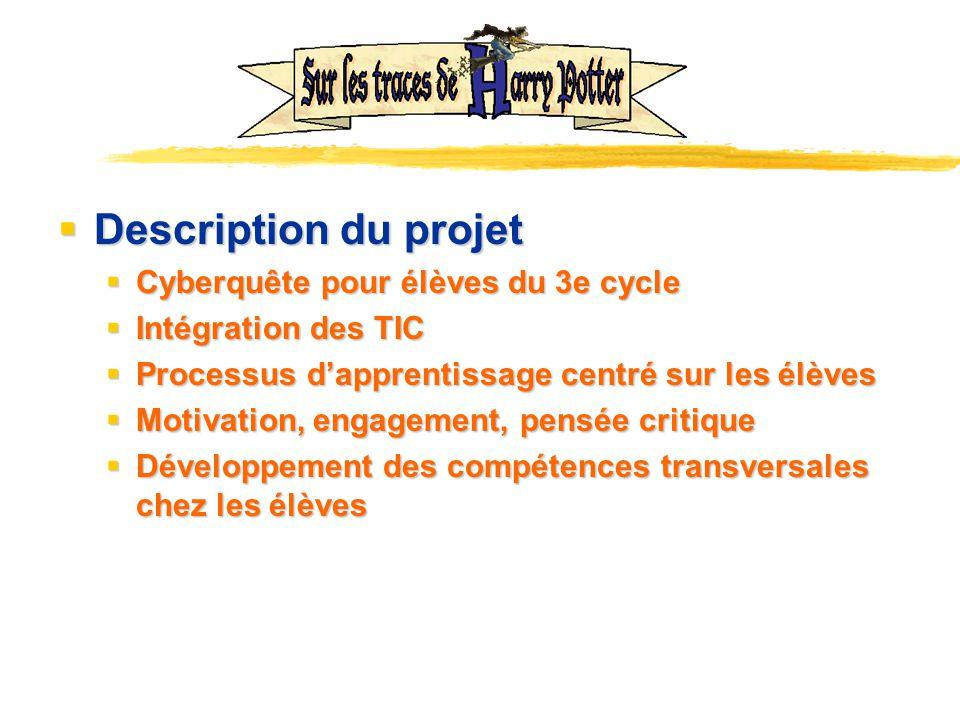 Description du projet Cyberquête pour élèves du 3e cycle