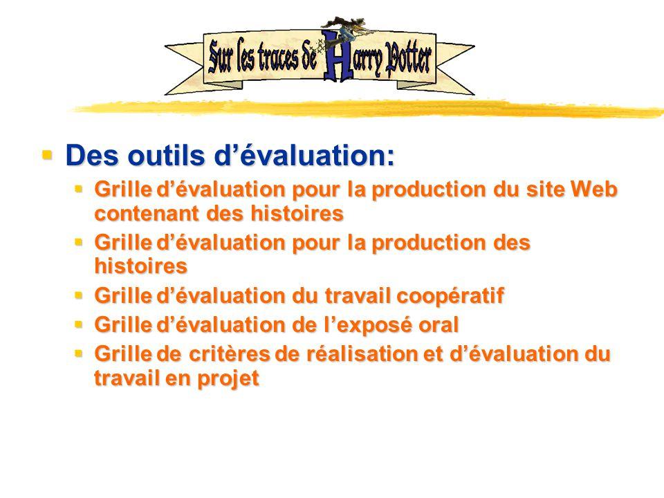 Des outils d'évaluation:
