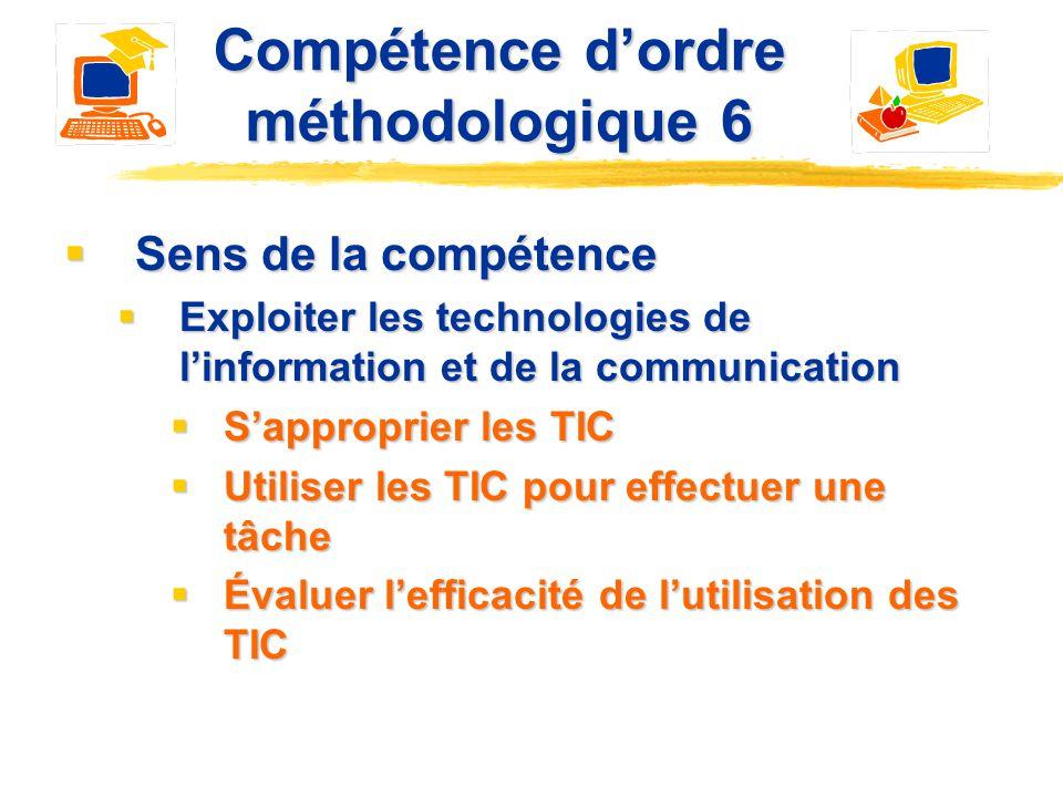 Compétence d'ordre méthodologique 6