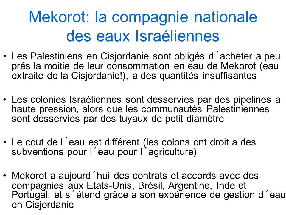 Mekorot: la compagnie nationale des eaux Israéliennes