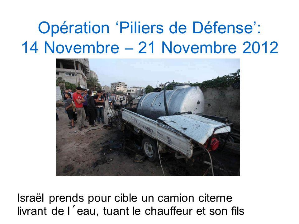 Opération 'Piliers de Défense': 14 Novembre – 21 Novembre 2012