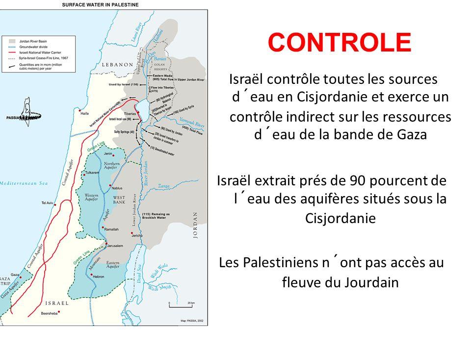 Les Palestiniens n´ont pas accès au fleuve du Jourdain