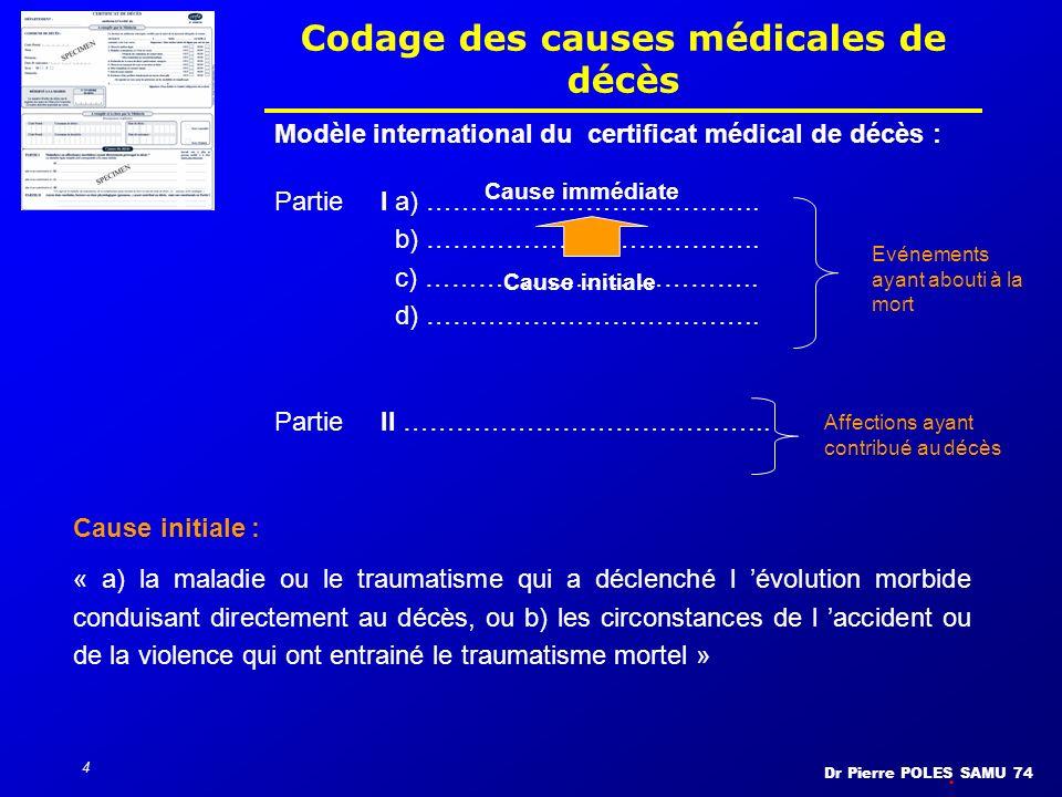 Codage des causes médicales de décès