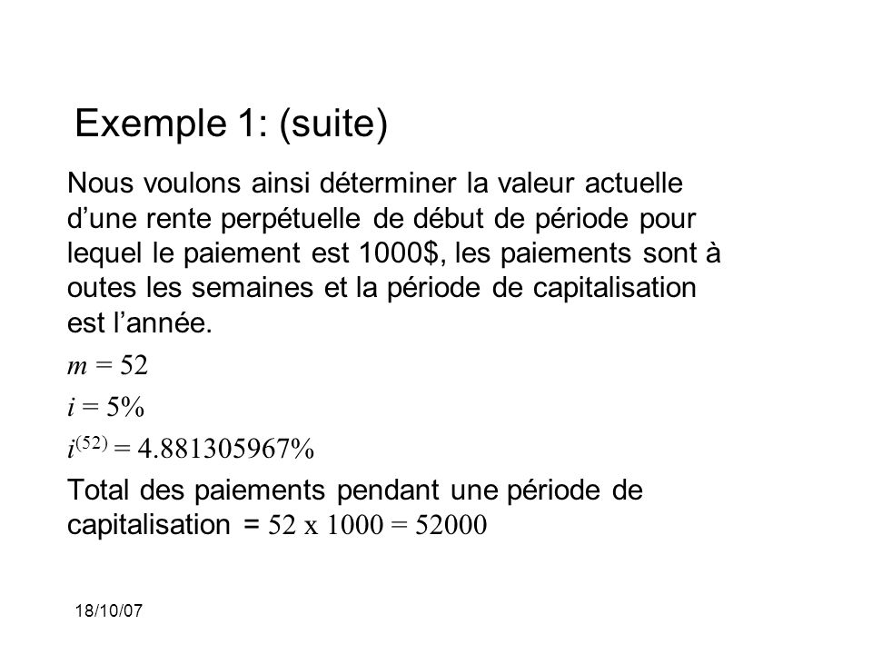 Exemple 1: (suite)