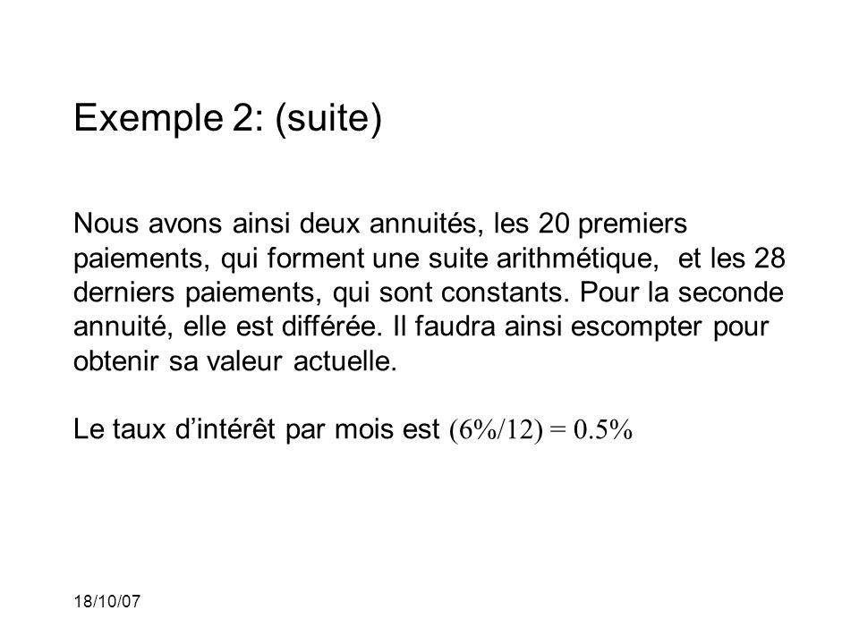 Exemple 2: (suite)