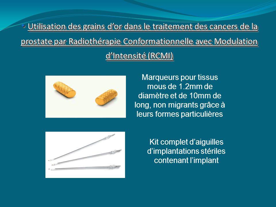 Kit complet d'aiguilles d'implantations stériles contenant l'implant