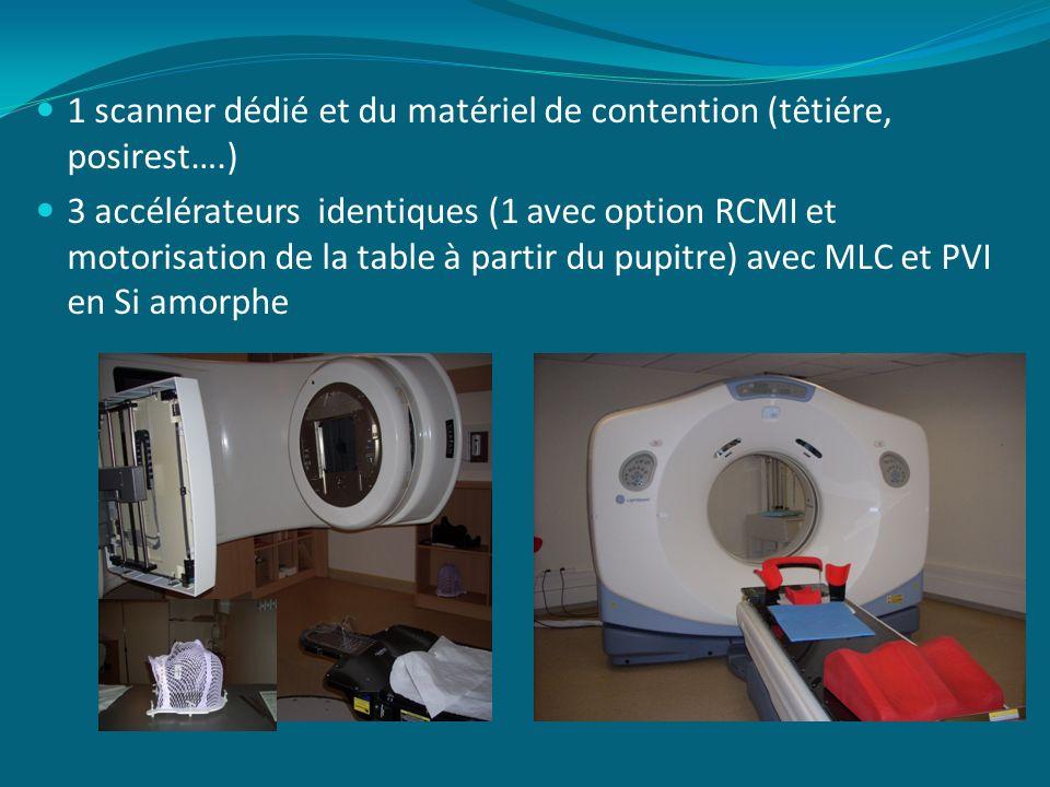 1 scanner dédié et du matériel de contention (têtiére, posirest….)