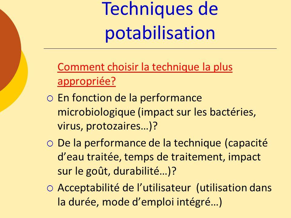 Techniques de potabilisation