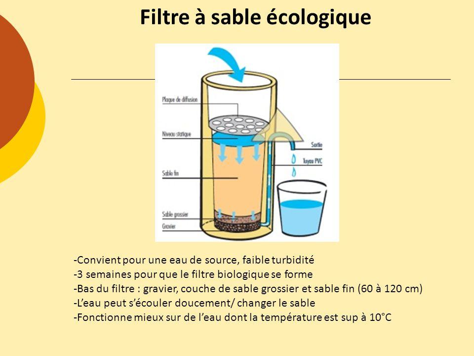 Filtre à sable écologique
