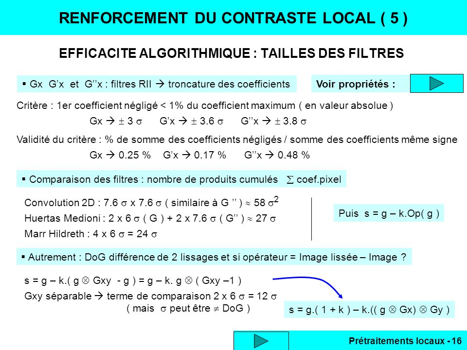 RENFORCEMENT DU CONTRASTE LOCAL ( 5 )