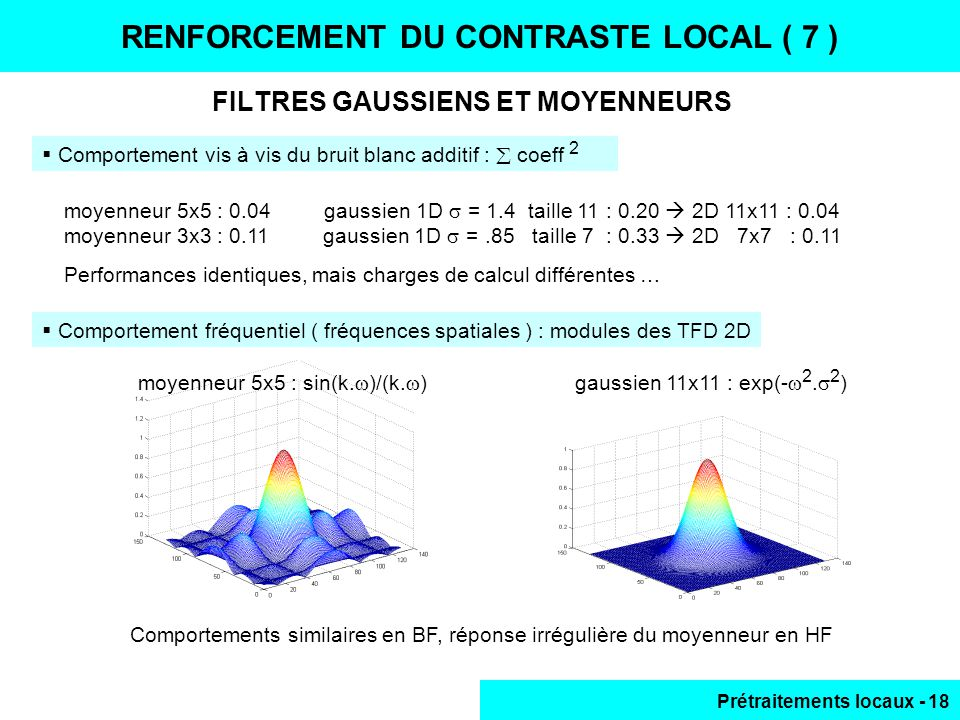 RENFORCEMENT DU CONTRASTE LOCAL ( 7 )