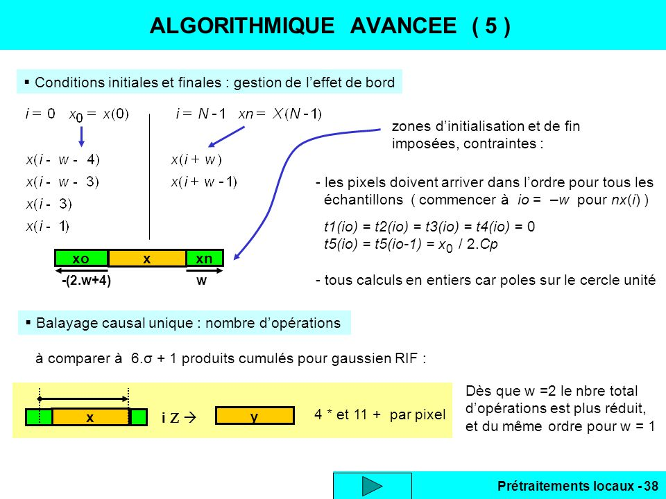 ALGORITHMIQUE AVANCEE ( 5 )