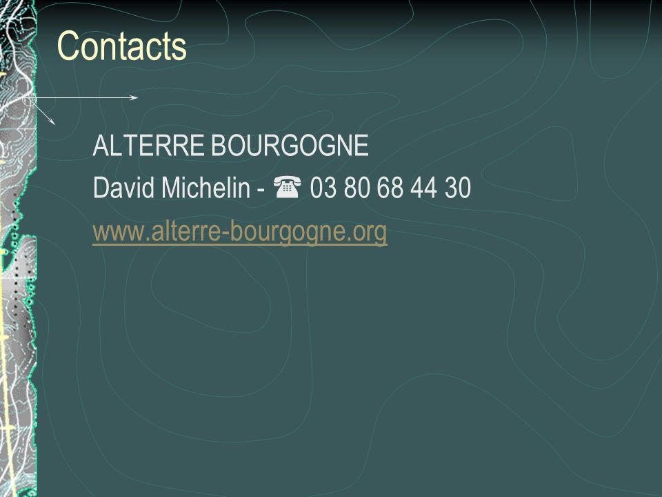 Contacts ALTERRE BOURGOGNE David Michelin -  03 80 68 44 30