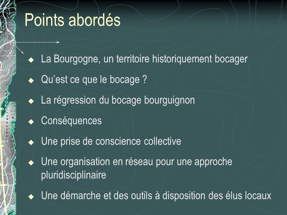 Points abordés La Bourgogne, un territoire historiquement bocager