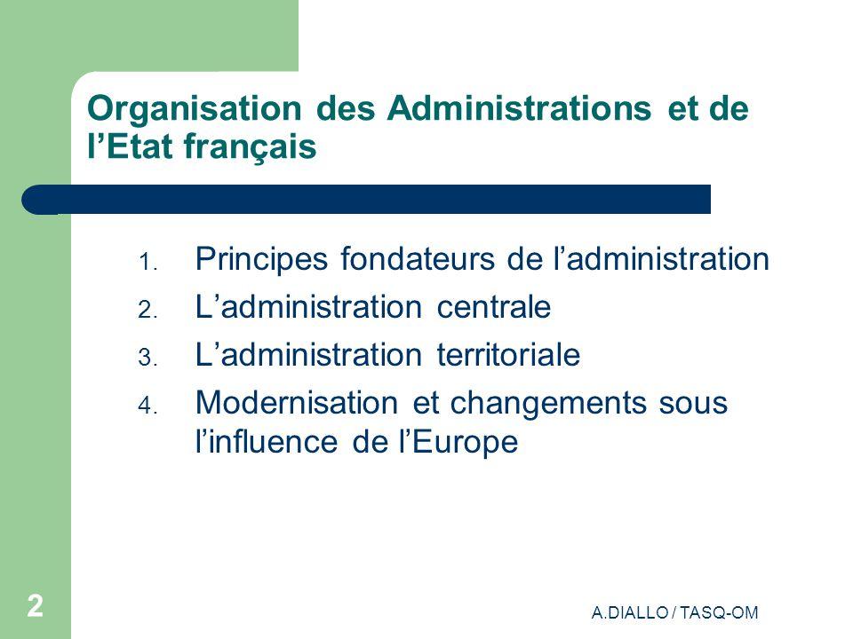 Organisation des Administrations et de l'Etat français
