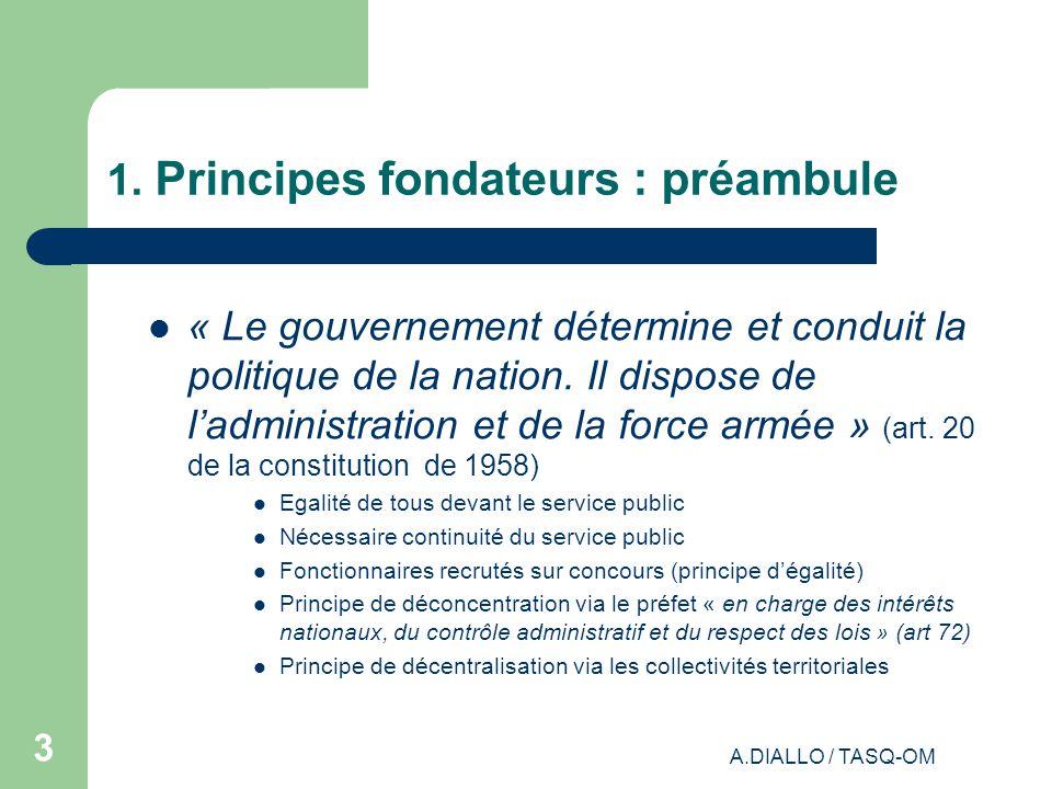 1. Principes fondateurs : préambule