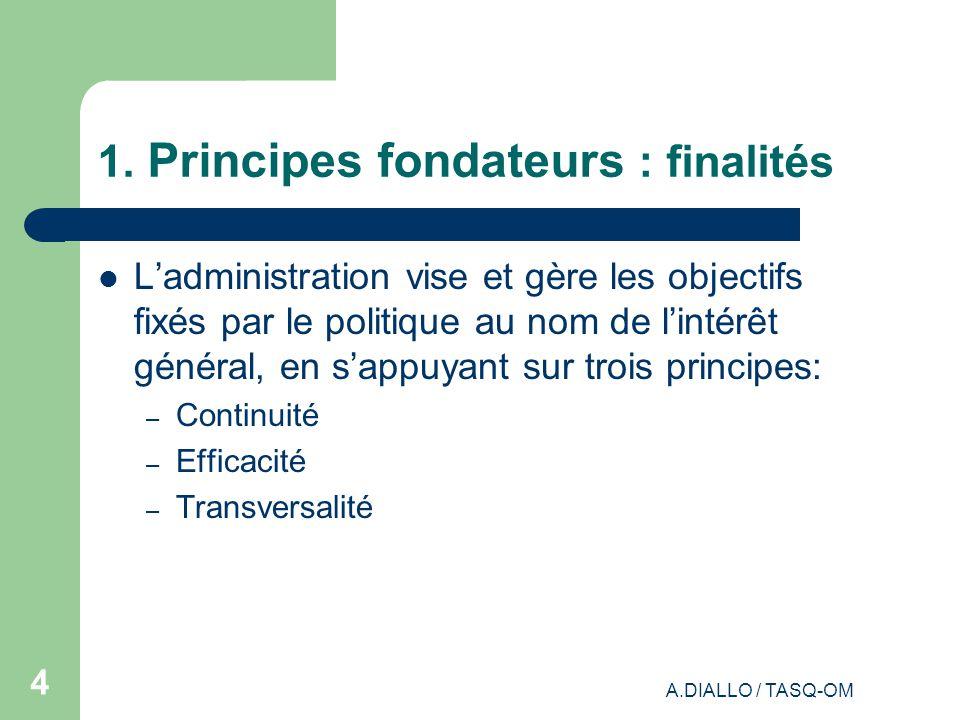 1. Principes fondateurs : finalités