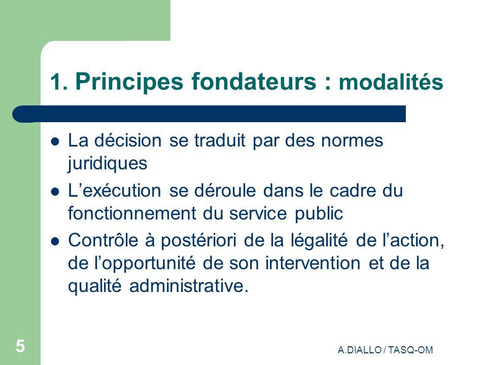 1. Principes fondateurs : modalités