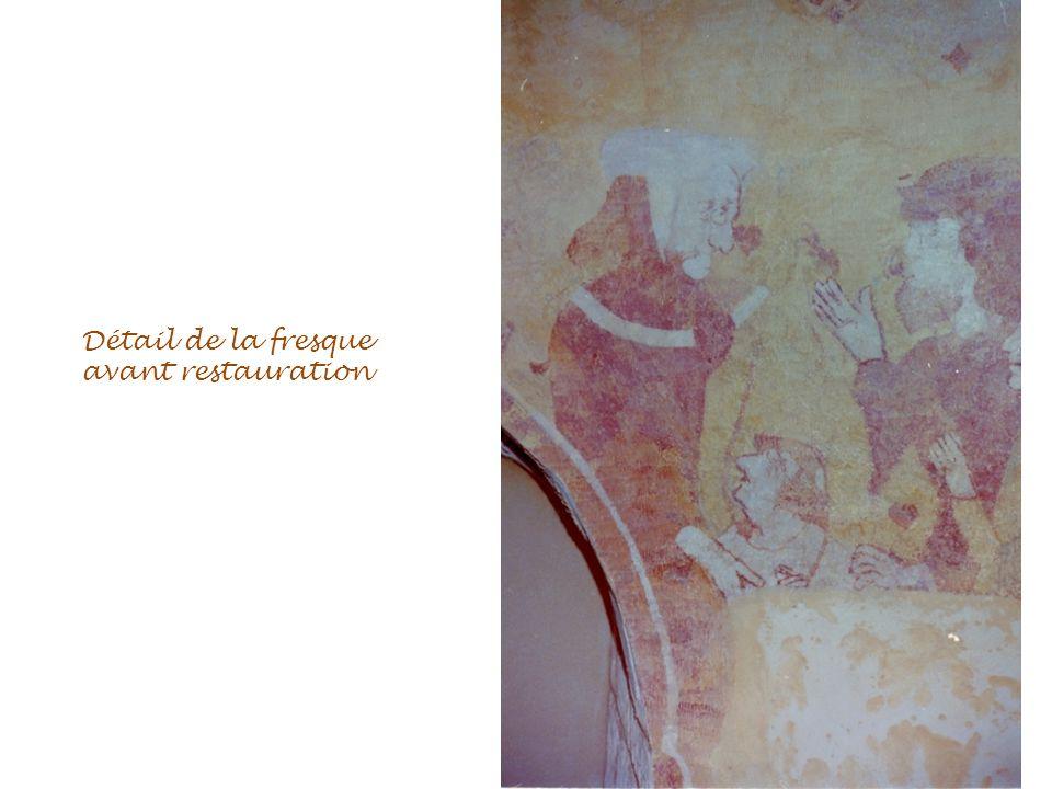 Détail de la fresque avant restauration