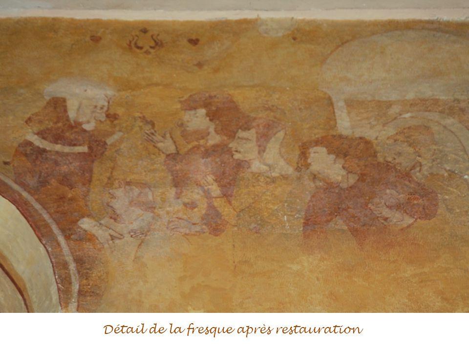 Détail de la fresque après restauration