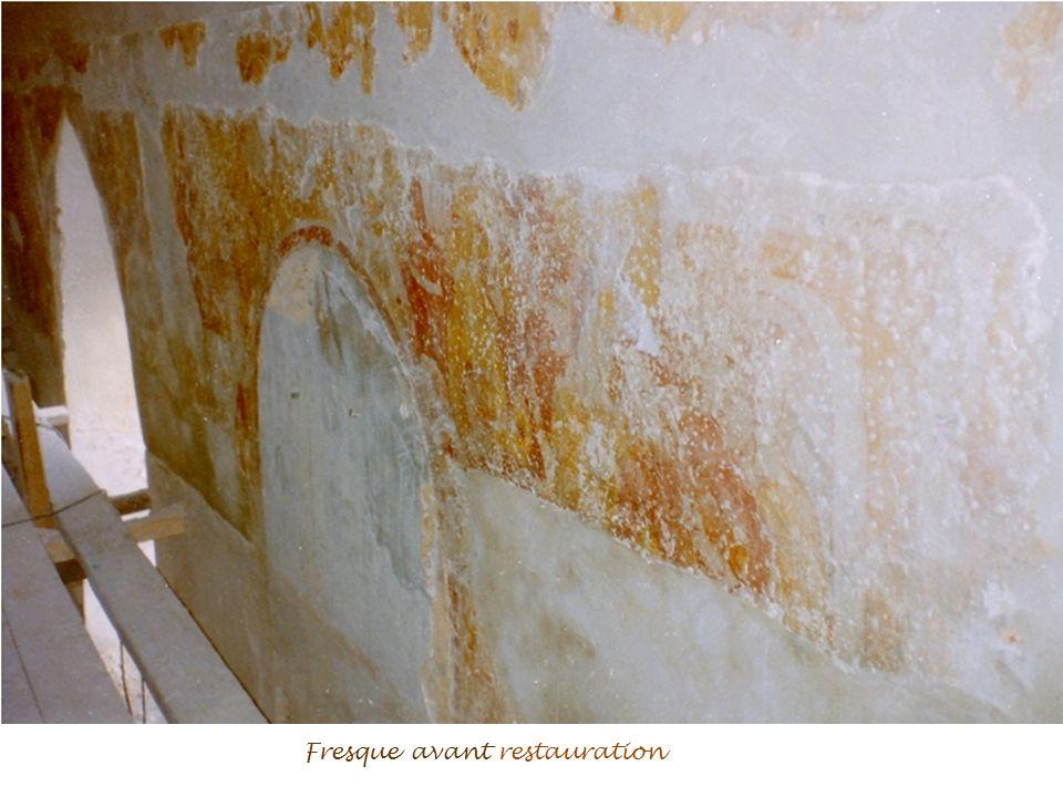 Fresque avant restauration