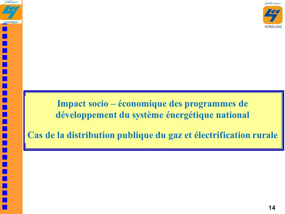 Cas de la distribution publique du gaz et électrification rurale