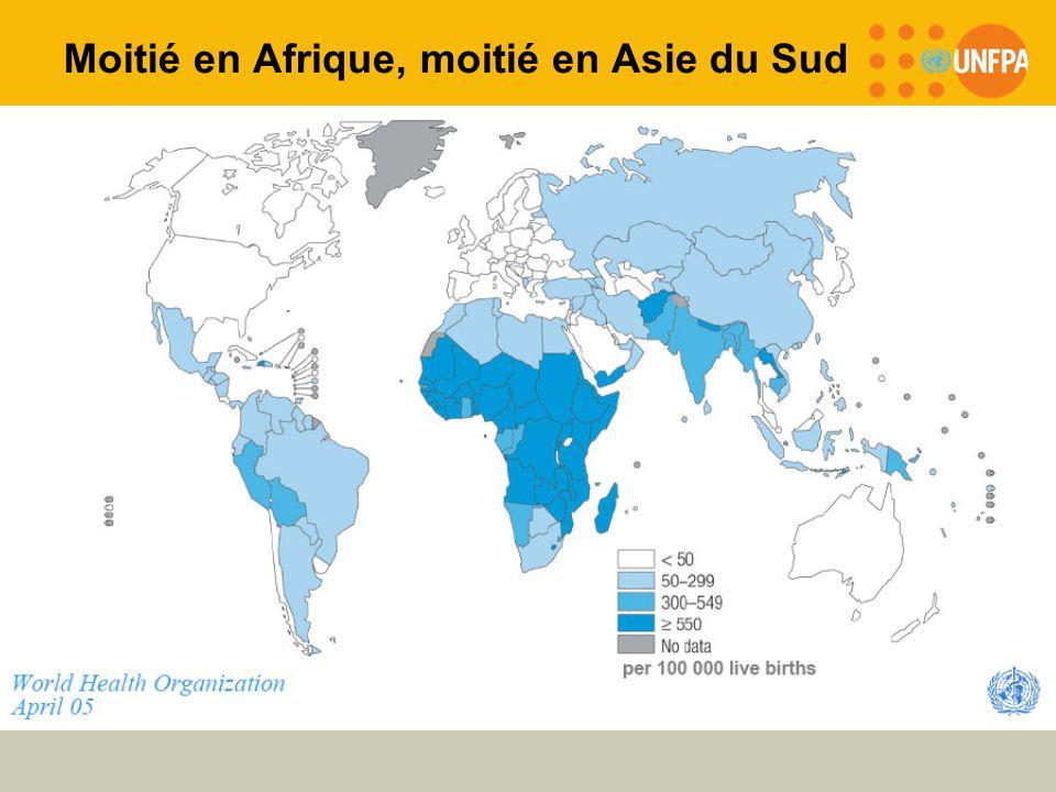 Moitié en Afrique, moitié en Asie du Sud