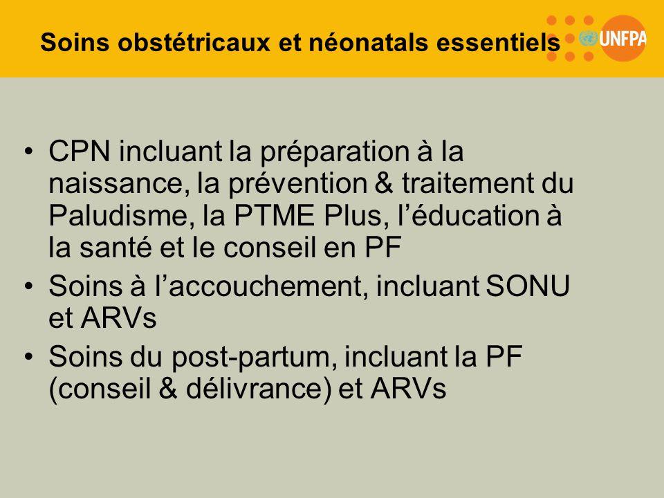 Soins obstétricaux et néonatals essentiels