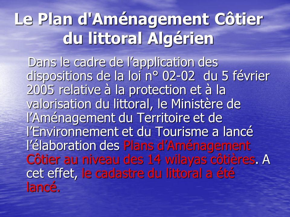Le Plan d Aménagement Côtier du littoral Algérien
