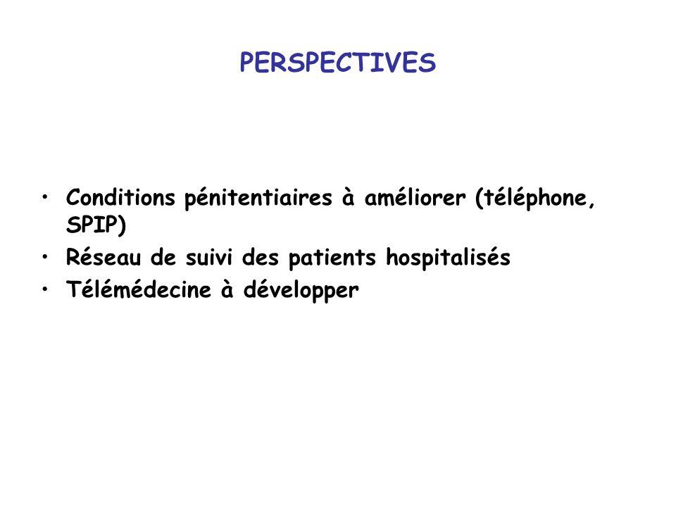 PERSPECTIVES Conditions pénitentiaires à améliorer (téléphone, SPIP)