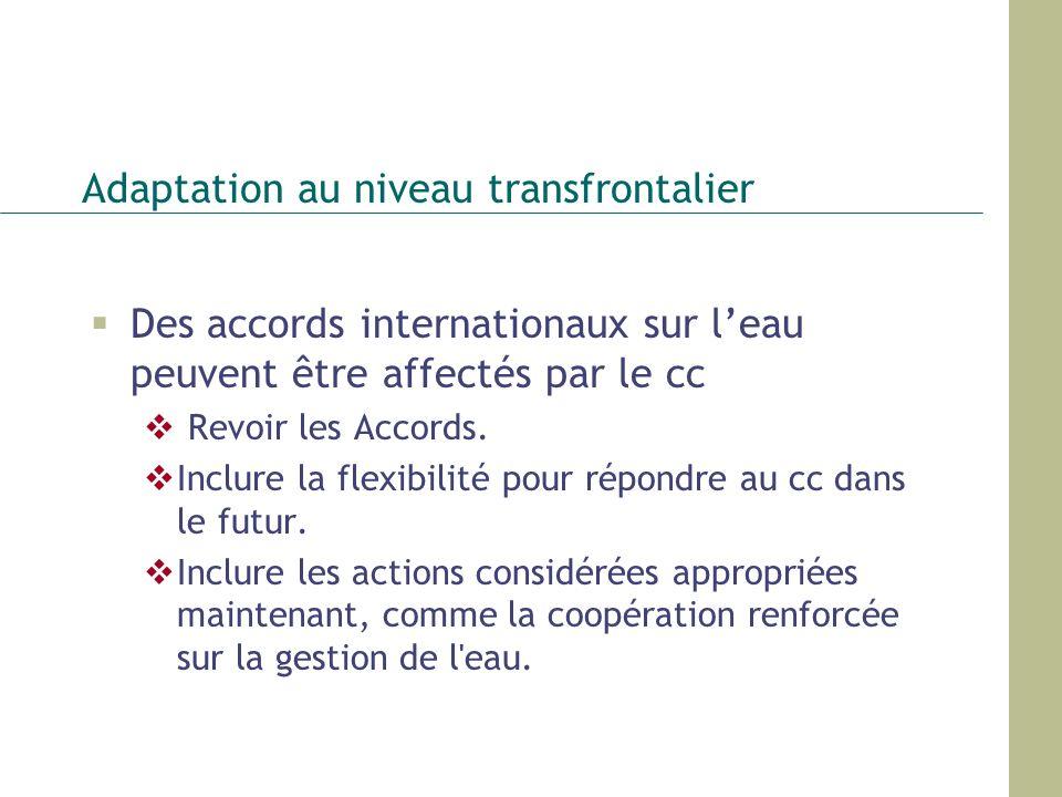 Adaptation au niveau transfrontalier